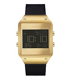 GUESS Men's Goldtone Sleek Radar Digital Watch