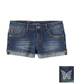 Vigoss® Girls' 7-16 Shorts With Butterfly Pockets