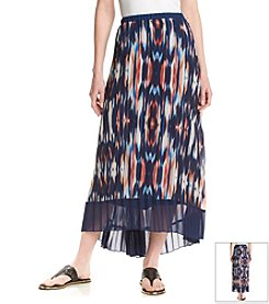 NY Collection Multi Print Skirt