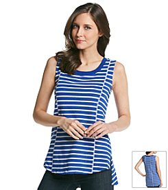 Cable & Gauge® Striped Sleeveless Tunic
