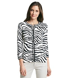 Jones New York Collection® Animal Print Cardigan