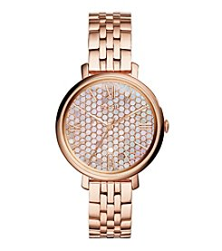 Fossil® Women's Jacqueline Watch With Rose Goldtone Bracelet And Mother Of Pearl Dial