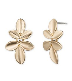 Lonna & Lilly Goldtone Flower Stud Earrings