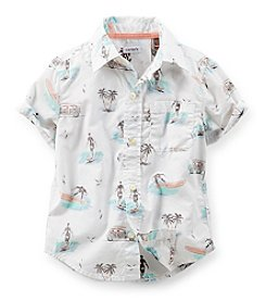 Carter's® Baby Boys' Poplin Button-Front Shirt