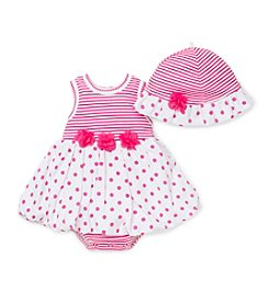 Little Me® Baby Girls' Polka Dot Romper Set
