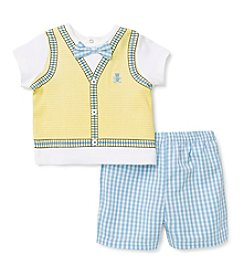 Little Me® Baby Boys' Bear Vest Shorts Set