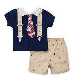 Little Me® Baby Boys' Anchor Print Shorts Outfit Set