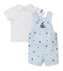 Little Me® Baby Boys' Sailboat Striped Shortall Set