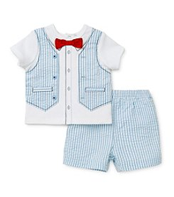 Little Me® Baby Boys' Tuxedo Vest Shorts Set