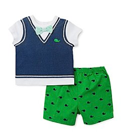 Little Me® Baby Boys' Sweater Vest Tee With Shorts Set