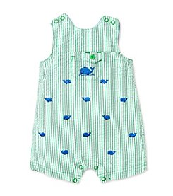 Little Me® Baby Boys' Striped Whale Shortall