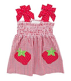 Rare Editions® Baby Girls' Seersucker Strawberry Dress