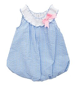 Rare Editions® Baby Girls' Plaid Seersucker Bubble Romper