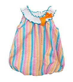 Rare Editions® Baby Girls' Striped Seersucker Bubble Romper