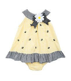 Rare Editions® Baby Girls' Bee's Knees Seersucker Romper