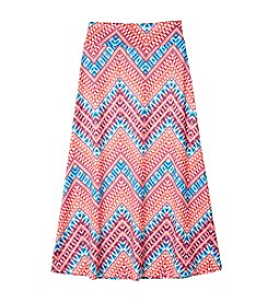 Amy Byer Girls' 7-16 Chevron Print Maxi Skirt