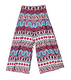 Amy Byer Girls' 7-16 Printed Gaucho Pants