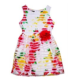 Amy Byer Girls' 4-6X Burnout Floral Dress