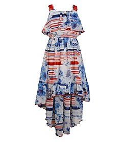 Bonnie Jean® Girls' 7-16 Americana High-Low Chiffon Dress
