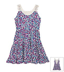 Rare Editions® Girls' 7-16 Floral Challis Dress