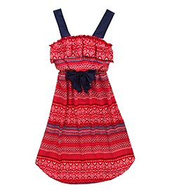 Rare Editions® Girls' 7-16 Geo Chevron Print Dress