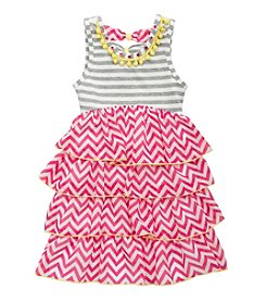 Rare Editions® Girls' 4-6X Print Chiffon Dress