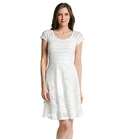 Notations® Solid Lace Dress