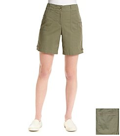 Briggs New York® Solid Cargo Pocket Shorts