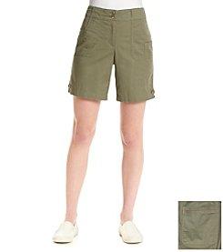 Briggs New York® Solid Cargo Pocket Shorts