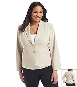 Calvin Klein Plus Size Double Weave Jacket