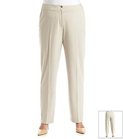 Calvin Klein Plus Size Double Weave Pants