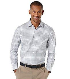 Perry Ellis® Men's Long Sleeve Check Dobby Woven