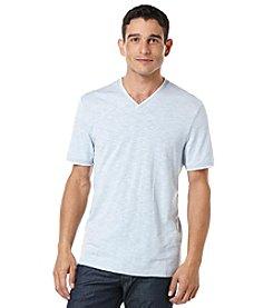 Perry Ellis® Men's Short Sleeve Stripe Vneck Tee