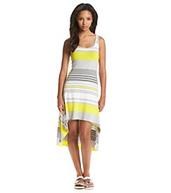 Marc New York Performance High-Low Stripe Tank Dress