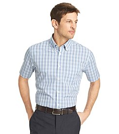 Van Heusen Men's Short Sleeve Tattersal No-Iron Woven