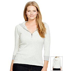 Lauren Jeans Co.® Plus Size Raglan Half-Zip Hoodie