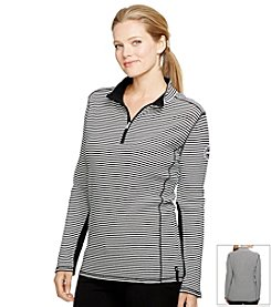 Lauren Active® Plus Size Mockneck Cotton Pullover
