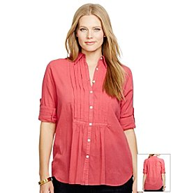 Lauren Jeans Co.® Plus Size Cotton Gauze Shirt