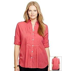 Lauren Jeans Co.® Plus Size Cotton Gauze Shirt