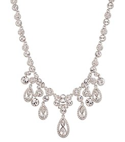 Givenchy® Silvertone Crystal Drama Necklace