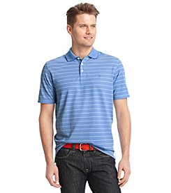 Izod® Men's Short Sleeve Striped Performance Oxford Polo