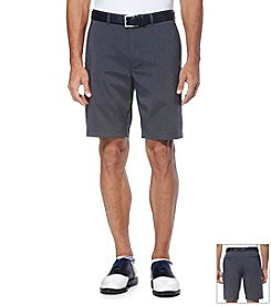 Jack Nicklaus Men's Flat Front Poly/Spandex Heather Shorts