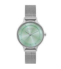 Skagen Denmark Women's Anita Silvertone Watch With Mesh Strap
