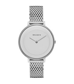 Skagen Denmark Women's Ditte Silvertone Watch With Mesh Strap