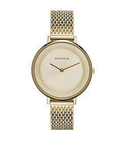 Skagen Denmark Women's Ditte Goldtone Watch With Mesh Strap