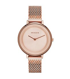 Skagen Denmark Women's Ditte Rose Goldtone Watch With Mesh Strap
