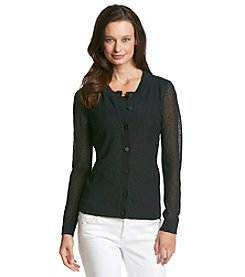 Anne Klein Buttondown Cardigan
