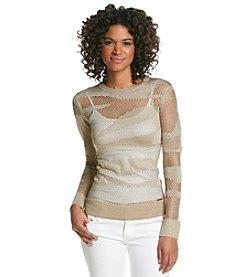 MICHAEL Michael Kors® Mesh Crew Sweater