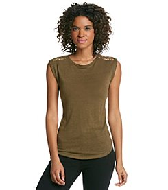 MICHAEL Michael Kors® Stud Shoulder Top