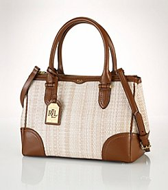 Lauren Ralph Lauren Newbury Straw Zip Shopper
